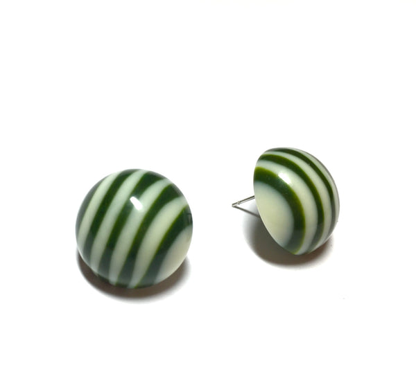 forest green stripe studs
