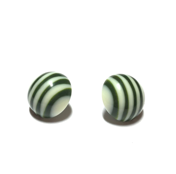 vintage stripe earrings