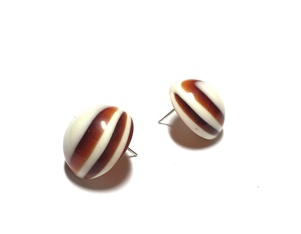 striped tortoise retro buttons