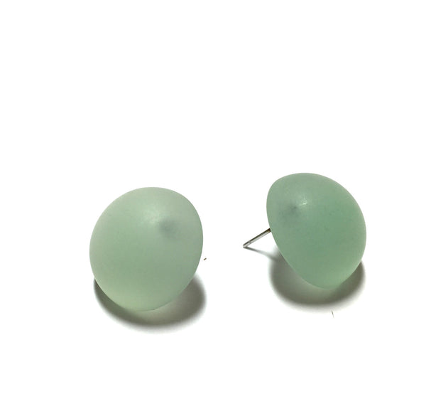 sea glass lucite earrings