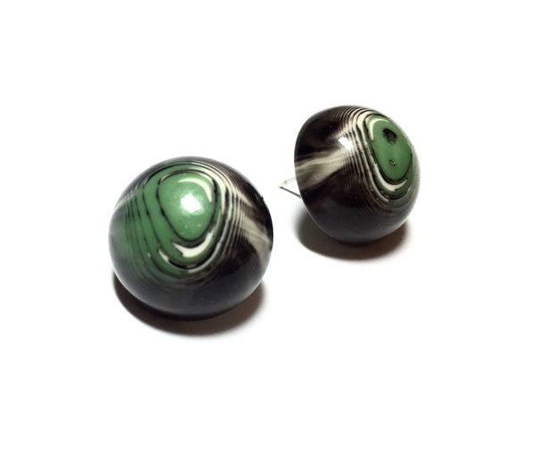 green marbled retro buttons