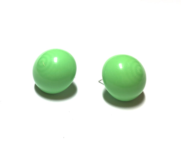 light green button studs