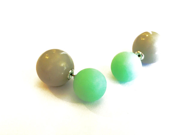 green grey 360 earrings