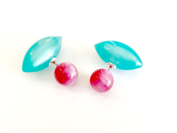 pink 360 earrings