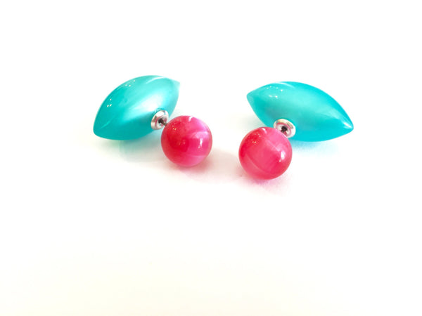 hot pink 360 earrings