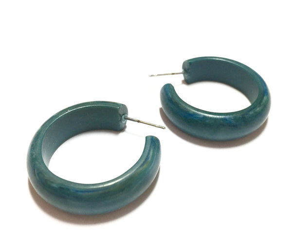 marbled teal earrings