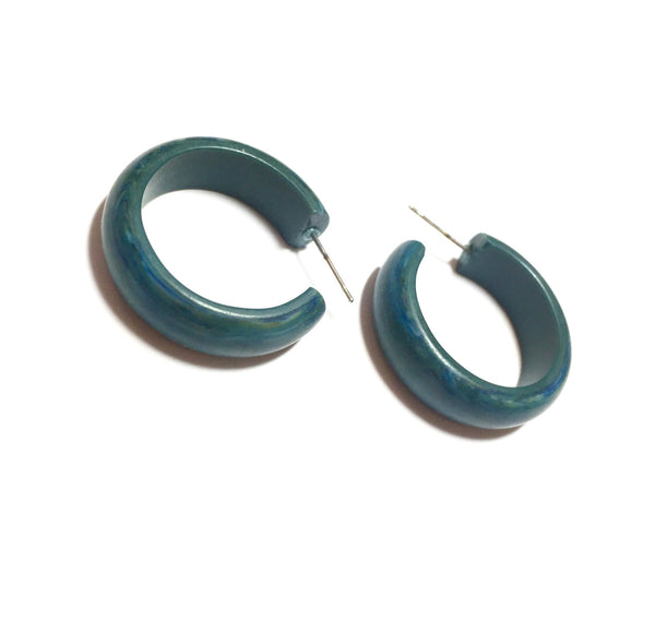 dark teal hoop earrings