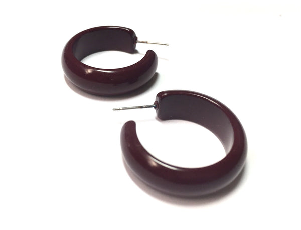 brown simple hoops