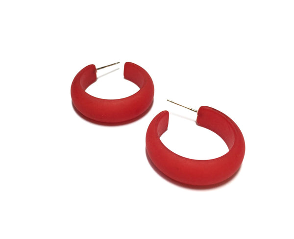 see through red earrings