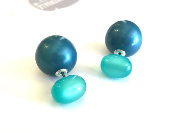 lucite 2 sided earrings