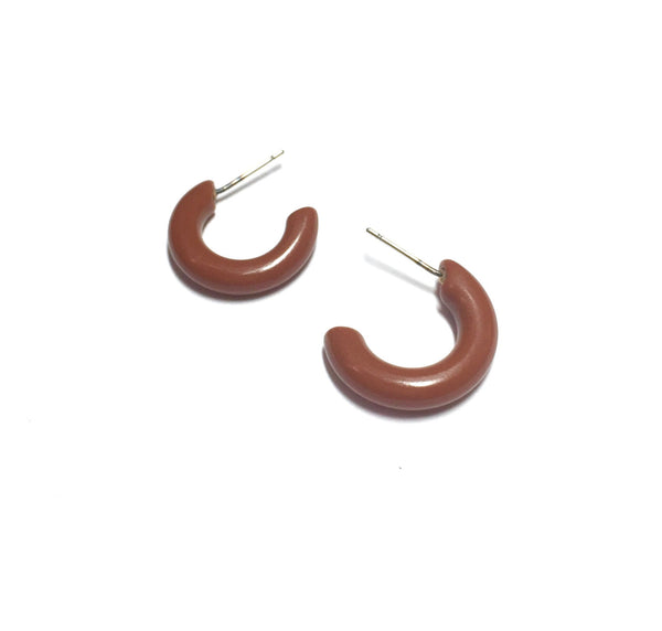 small brown lucite hoops