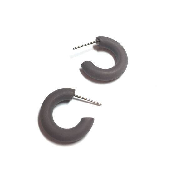 grey hoop earrings