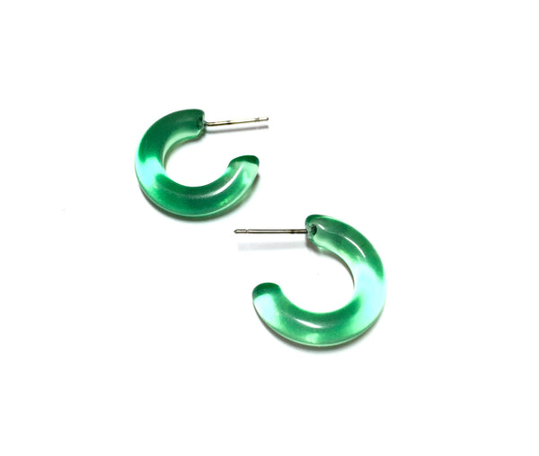 bright green small hoops