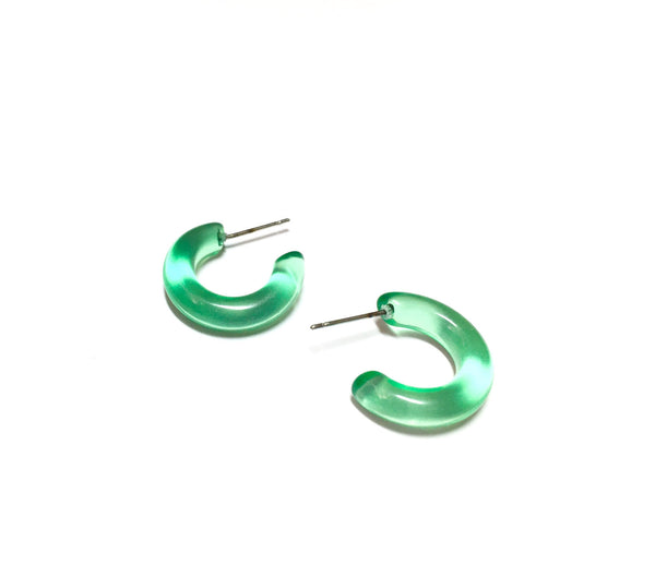 pretty green hoops