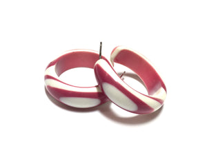 hot pink stripe hoops