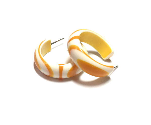 yellow white stripe hoops