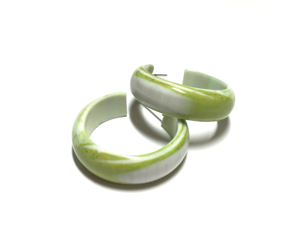lime green stripe hoops