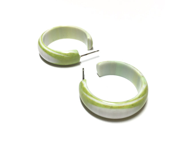 chartreuse hoop earrings