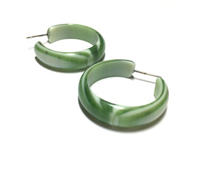 moss green stripe hoops