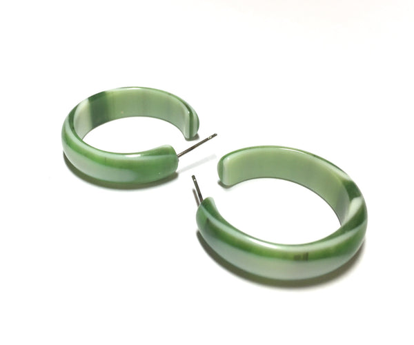 dark green hoop earrings