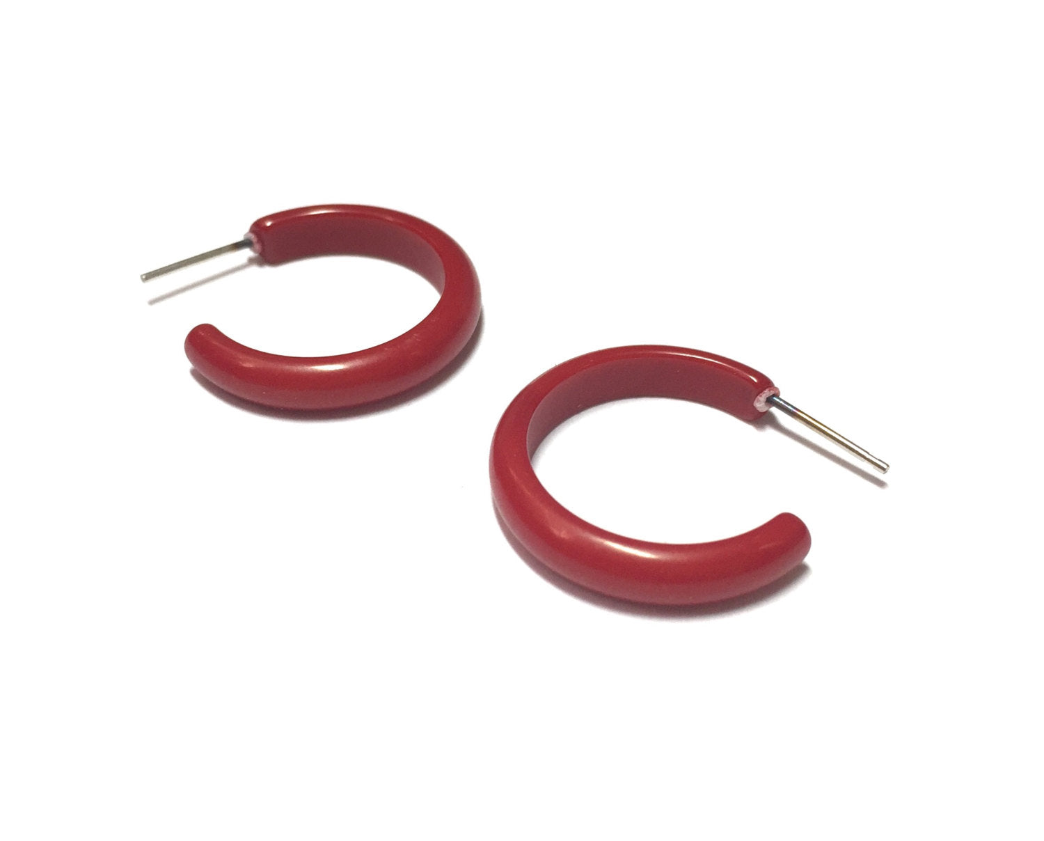 brick red hoops