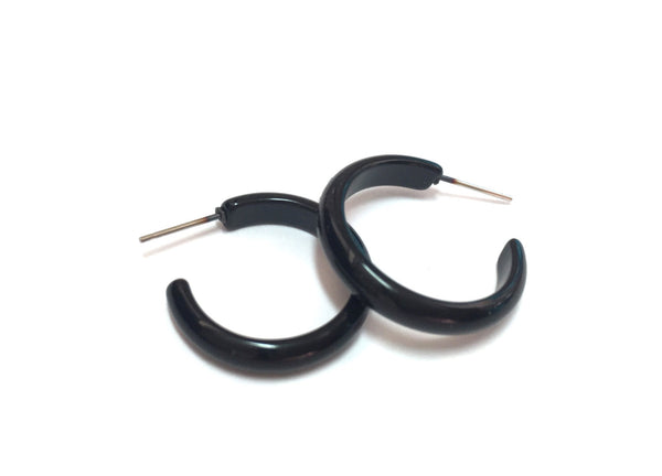 skinny black hoops