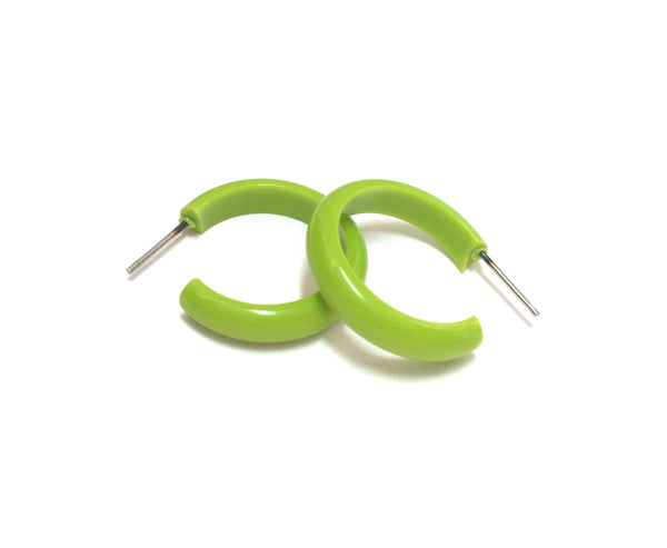 small neon green hoops