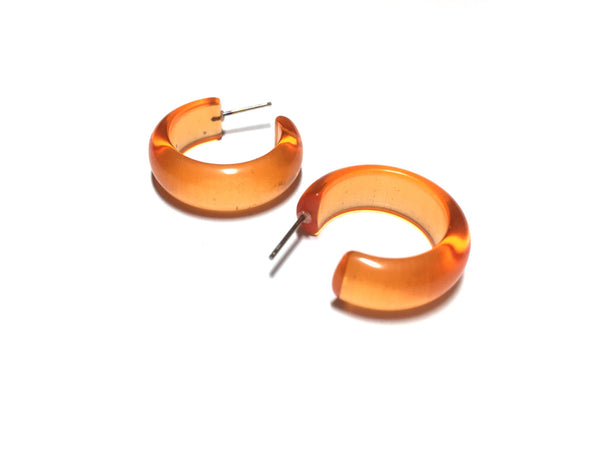 bright orange earrings