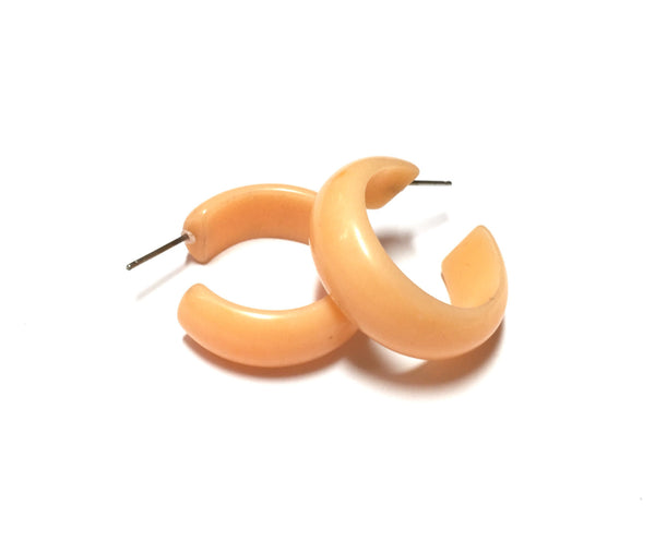 retro lucite hoops peach