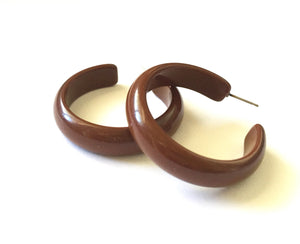 dark brown midi hoops