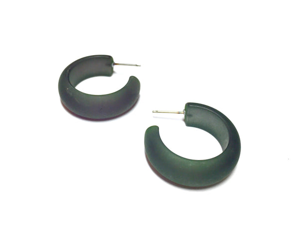 Frosted dark green hoops