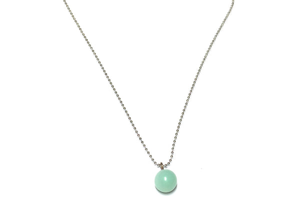 mint green simple necklace