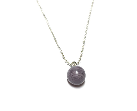 grey simple necklace