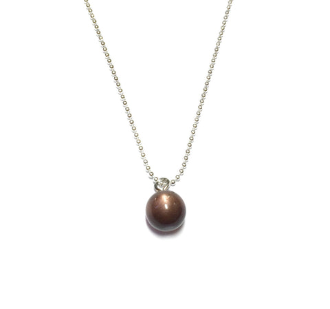 brown simple necklace