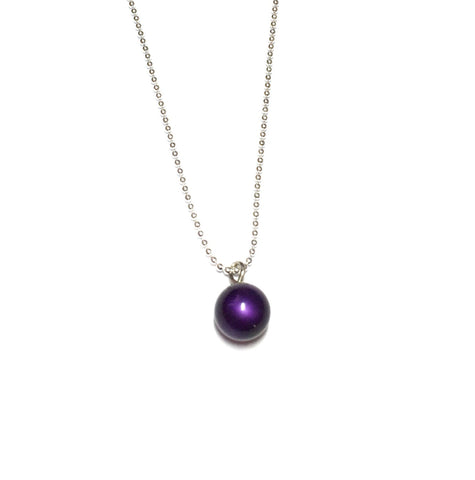 purple simple necklace