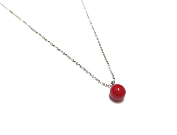 red ddrop necklace