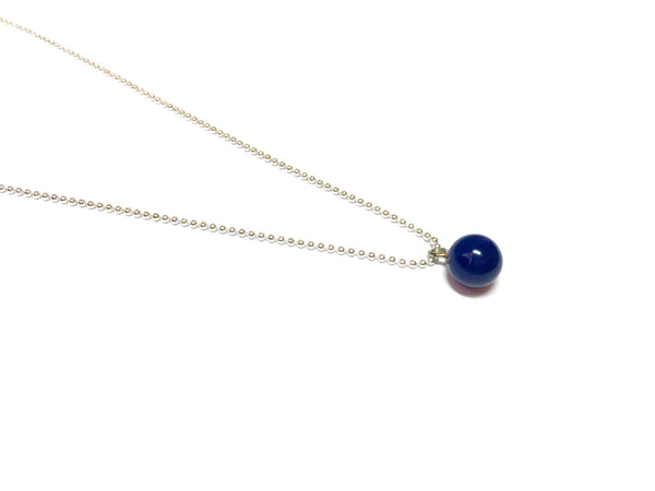 dark blue necklace