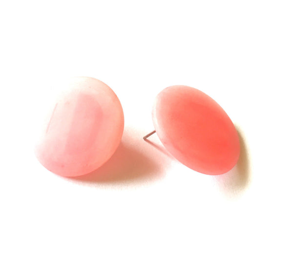 big pink lucite earrings