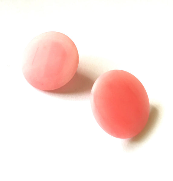 light pink round earrings