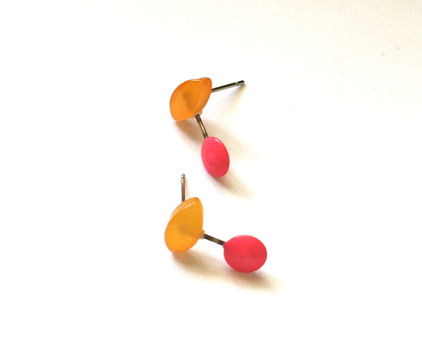 orange pink earrings
