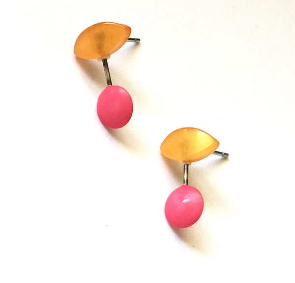 peach pink earrings