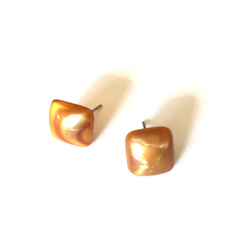marbled gold studs