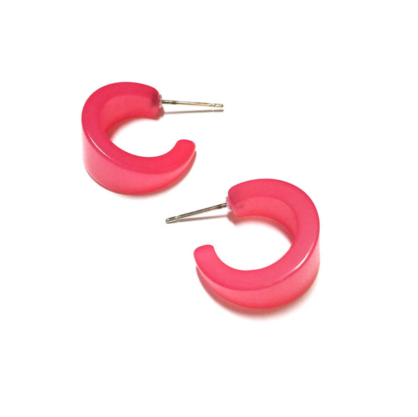 watermelon pink earrings