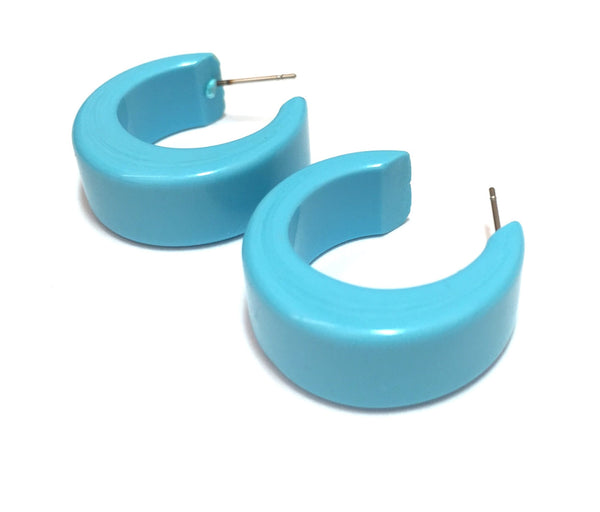 turquoise chunky hoops