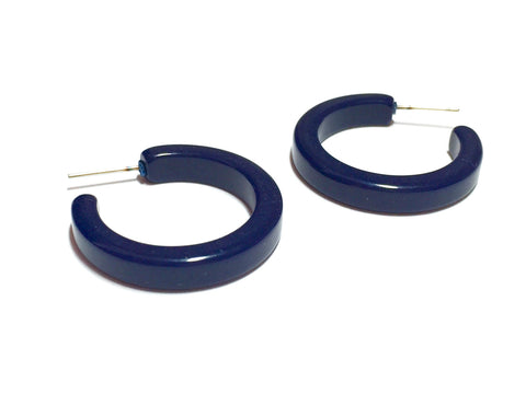 navy blue hoop earrings