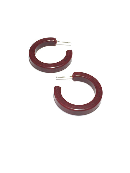 dark red lucite hoops