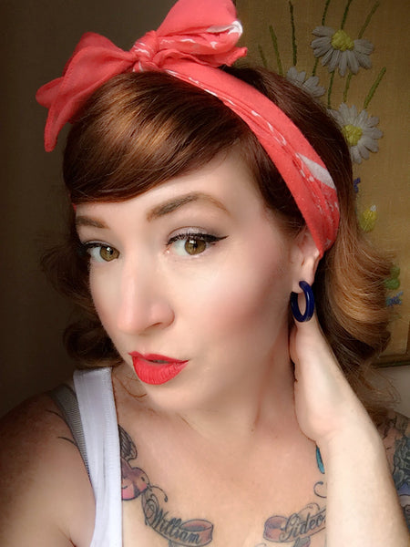 pinup girl earrings