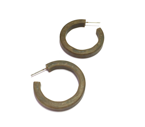Chocolate Grey hoop earrings