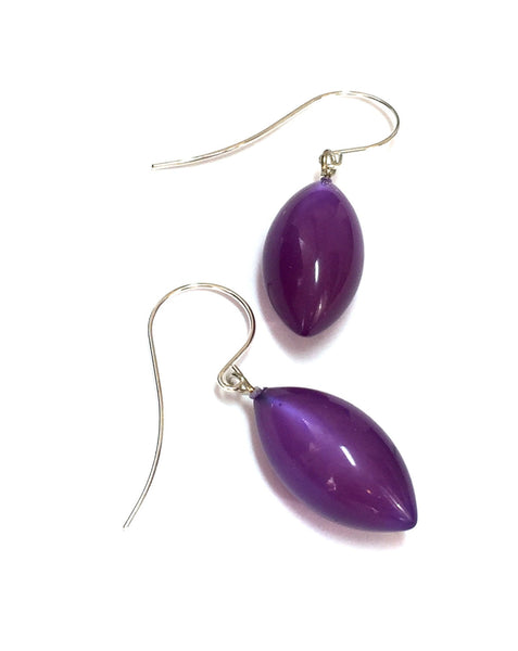 purple moonglow drop earrings