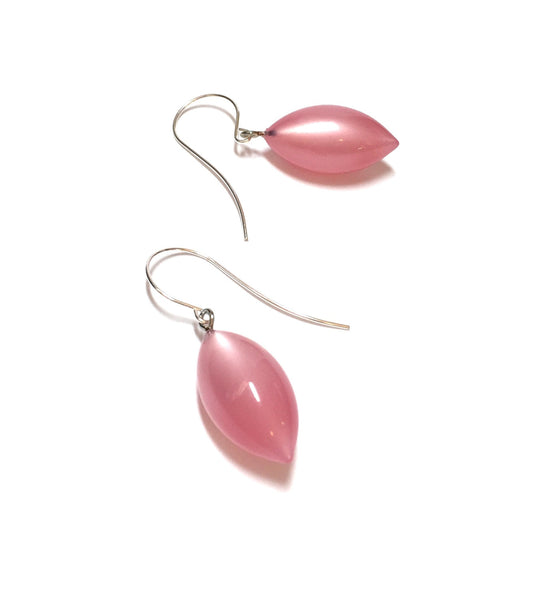 light pink drop earrings